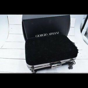 New Giorgio Armani Black Velvet Evening Bag / 🖤